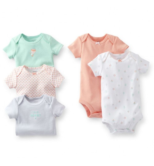 Carter's 5-Pack Short-Sleeve Bodysuits