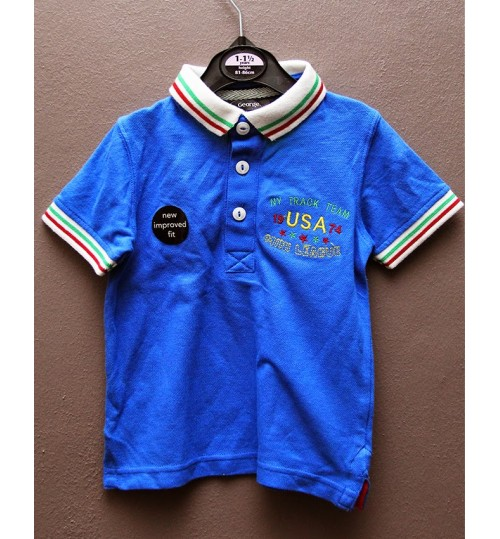 Boys Polo Shirt, Blue