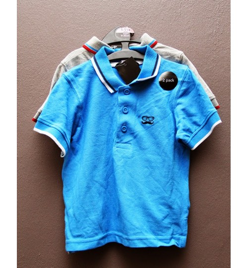 Boys 2 Pack Polo Shirts