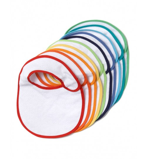 George 10 Pack Colour Trim Bibs