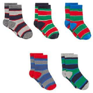 4ec600feda Mothercare Striped Baby Socks - 5 Pairs