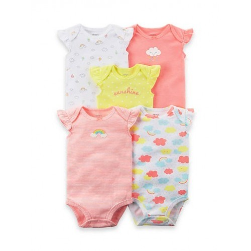 45d85a97ced Carter s 5-Pack Flutter-Sleeve Original Bodysuits Newborn Girls